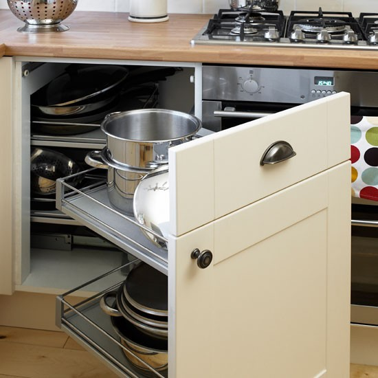 corner storage be inspired by this simple shaker kitchen