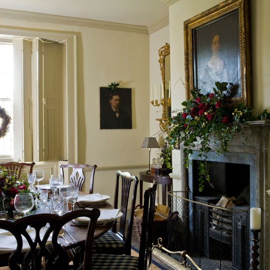 Dining room step inside this elegant georgian house tour for Georgian dining room ideas