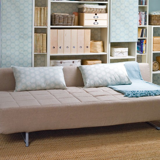 Invest in a sofabed | Makeover your attic room in 5 steps | Attic living room storage | Storage design ideas | Image | Housetohome