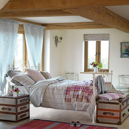 Pink country bedroom | Bedroom design idea | Floral bedlinen | Image | Housetohome
