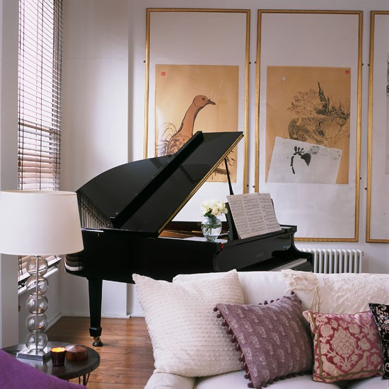 living room grand piano step inside this dramatic open