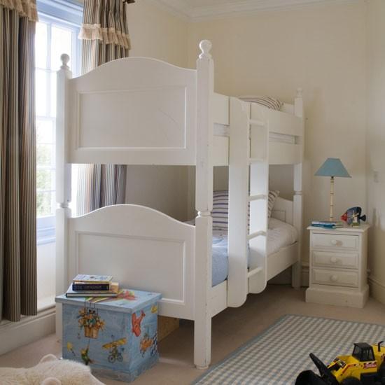 Children 39 s bedroom with bunk bed children 39 s bedroom idea for Boys bedroom ideas uk
