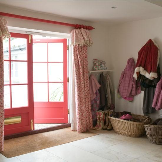 Red hallway cloakroom | Door | Hallway idea | Image | Housetohome