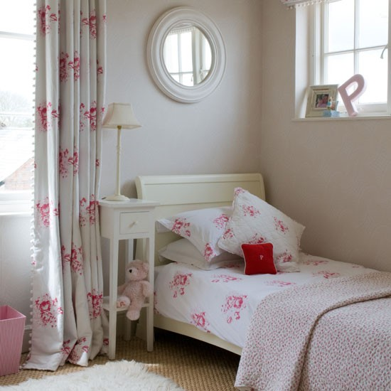 Pretty pink girl's bedroom | Curtain | Bedroom idea | Image | Housetohome