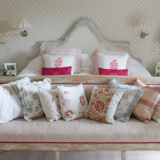 Large master bedroom | Floral cushion | Bedroom design | Image | Housetohome