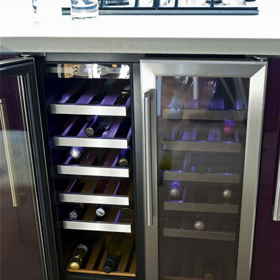 Kitchen wine cooler | Modern purple kitchen | Kitchen tour | PHOTO GALLERY | Housetohome