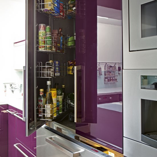 Kitchen cupboards | Modern purple kitchen | Kitchen tour | PHOTO GALLERY | Housetohome