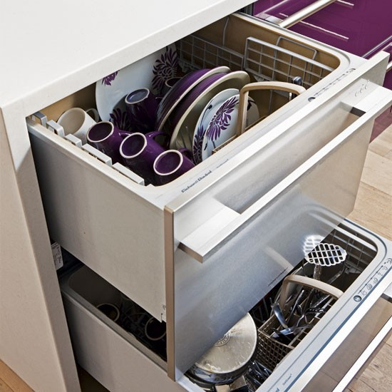 Kitchen dishwasher | Modern purple kitchen | Kitchen tour | PHOTO GALLERY | Housetohome