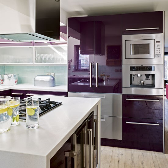 kitchen appliances modern purple kitchen tour
