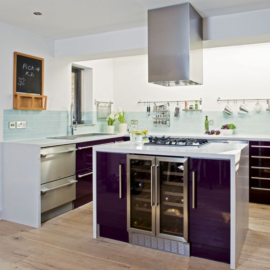 Purple kitchen | Modern purple kitchen | Kitchen tour | PHOTO GALLERY | Housetohome