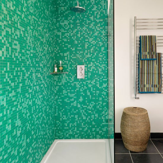 Mosaic bathroom shower | Mosaic tile | Bathroom idea | Modern | Image | Housetohome