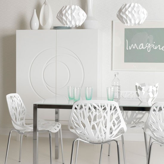 detailed white dining room chair dining room idea modern white