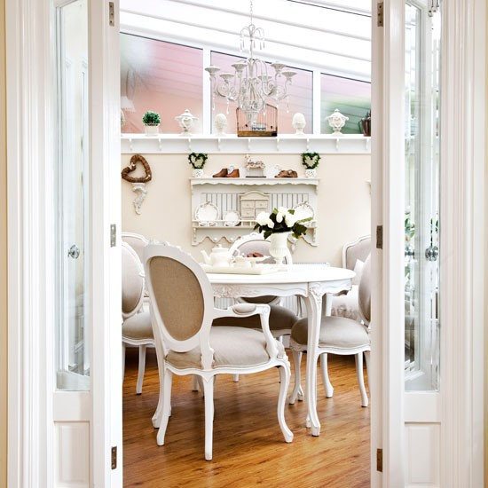 French style tea room 10 ways to use a conservatory for Conservatory dining room design ideas