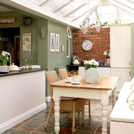 Rustic kitchen-diner conservatory | Conservatories | Conservatory decorating ideas | PHOTO GALLERY | Housetohome.co.uk