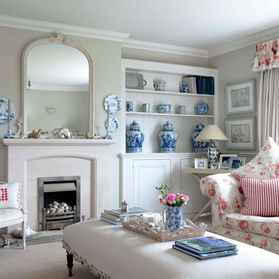 Grey Living Room With Duck Egg Blue Accessories