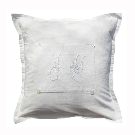 French linen cushion from Sacha Smith | Bedroom idea | Floral country buys | Country Homes & Interiors | Shopping