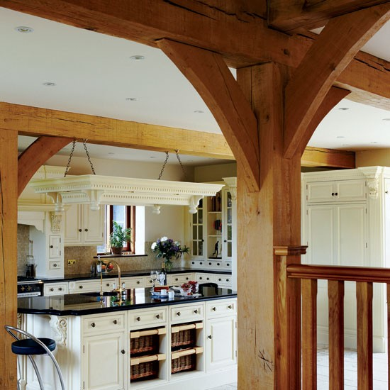Kitchen exposed beams | Hertfordshire barn conversion | COuntry Homes & Interiors house tour | Housetohome