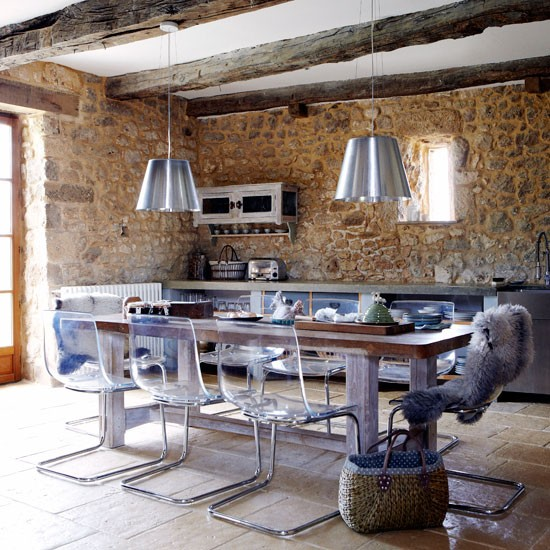 Contemporary kitchen | French manor house | Country Homes & Interiors house tour | PHOTO GALLERY | housetohome