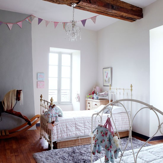 Girl's bedroom | French manor house | Country Homes & Interiors house tour | PHOTO GALLERY | housetohome