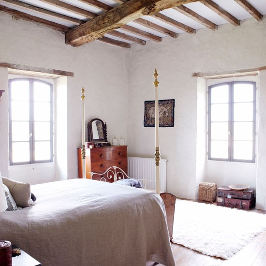 Neutral bedroom | French manor house | Country Homes & Interiors house tour | PHOTO GALLERY | housetohome