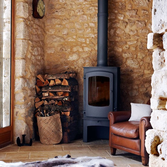Wood burner | French manor house | Country Homes & Interiors house tour | PHOTO GALLERY | housetohome