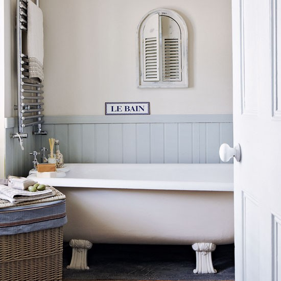 Bathroom gallic inspired seaside retreat tour for Bathroom design uk
