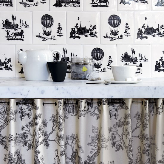 Give toile a modern update  Design ideas decorating with
