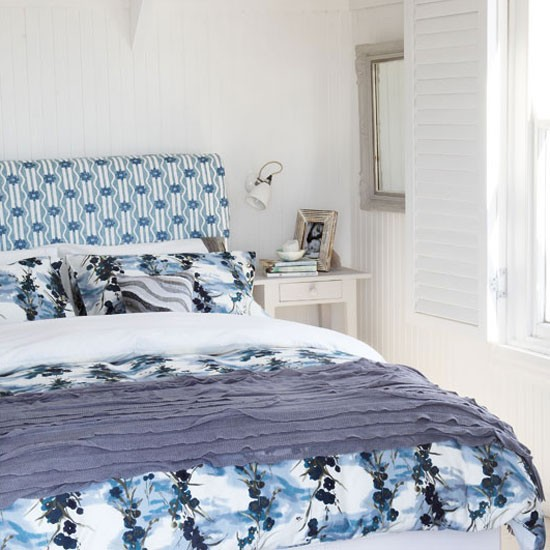 Blue coastal bedroom | Fresh blue bedroom makeovers | Design | Country Homes & Interiors | PHOTO GALLERY | Housetohome.co.uk