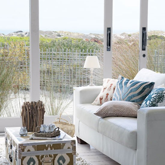 Coastal living room | Coastal-style decorating | Living room decorating | Image | Housetohome