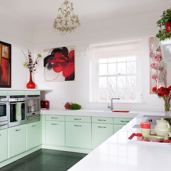 White Worktop Step Inside This Minty Fresh Country