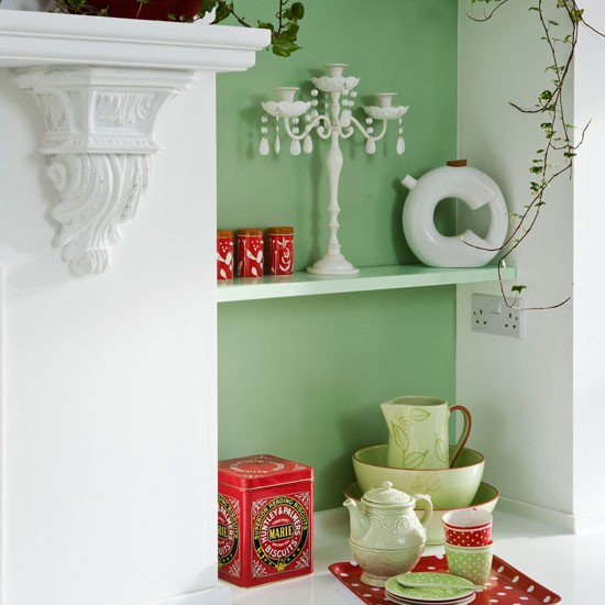 Alcove shelving | Fresh cottage kitchen | Beautiful Kitchens tour | PHOTO GALLERY | Housetohome