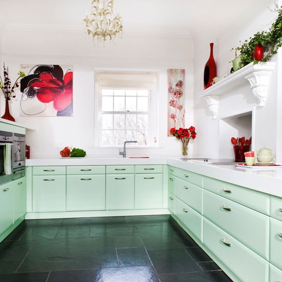 Mint kitchen | Fresh cottage kitchen | Beautiful Kitchens tour | PHOTO GALLERY | Housetohome