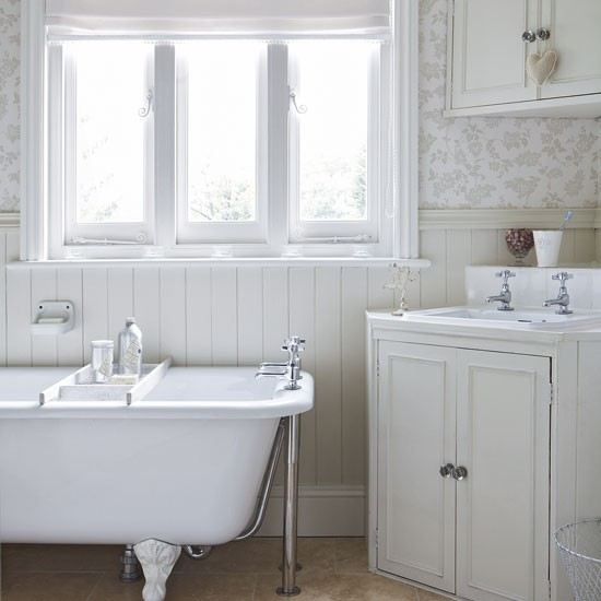 White country bathroom bathroom ideas for All white bathroom designs
