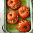 Fragrant and full of flavour, these stuffed tomatoes are the perfect way to start a meal