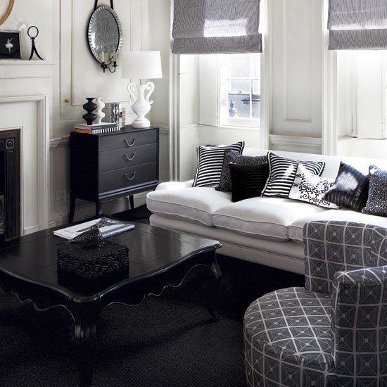 design ideas a parisian affair how to decorate with black and white. Black Bedroom Furniture Sets. Home Design Ideas