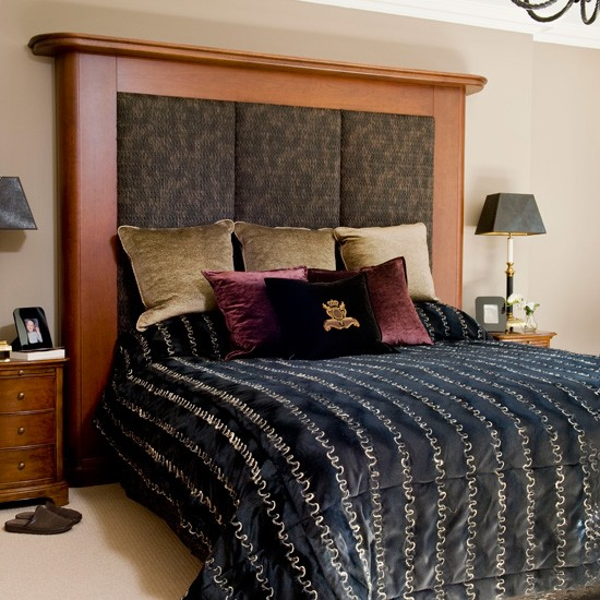 Add a grand headboard glamorous bedroom decorating ideas for Grand bedroom designs