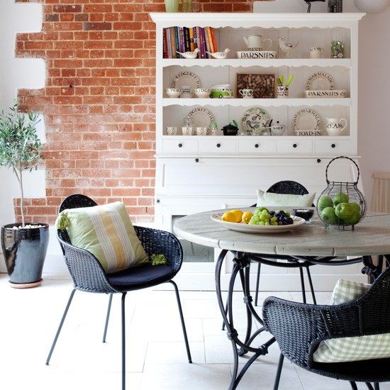 Exposed brick breakfast area | Breakfast rooms - 10 of the best | Breakfast room ideas | Dining room ideas | Housetohome
