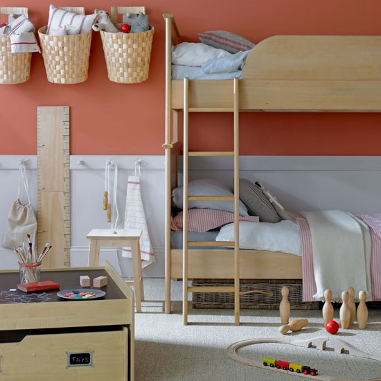 Coral children 39 s bedroom children 39 s bedroom stroage idea for Peg rail ikea