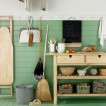 Green country utility room