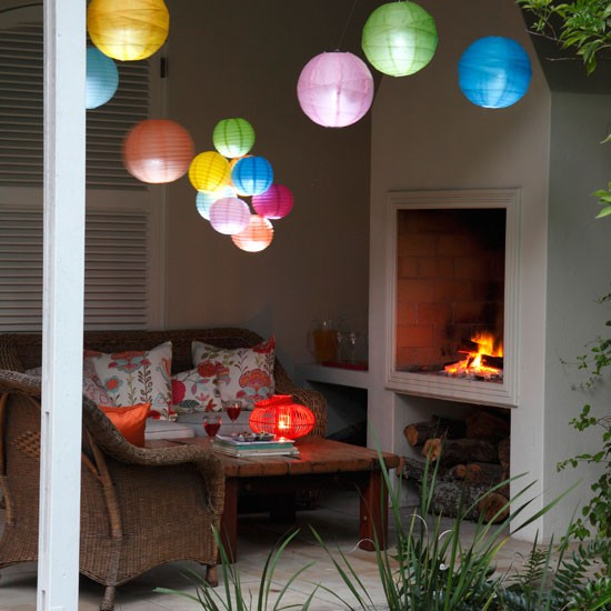Conservatory paper lanterns | Conservatory lighting | Conservatory design | Image | Housetohome