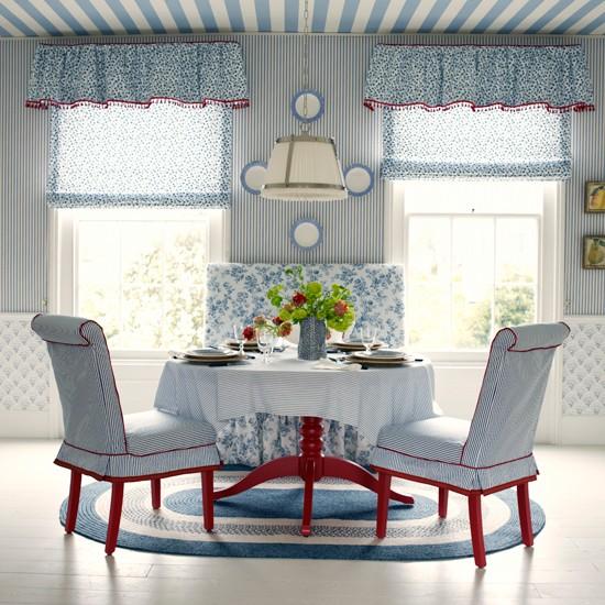 New England Dining Room Blue Dining Room