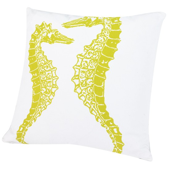 Sea horse cushion from Dwell | Decorative cushions - 25 Beautiful Homes' top 5