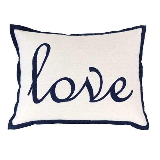 Tu navy love cushion from Sainsbury's | Decorative cushions - 25 Beautiful Homes' top 5