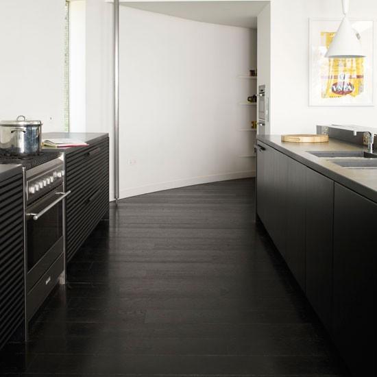 Trendy black wooden flooring celia rufey 39 s flooring tips for Bedroom ideas dark wood floor