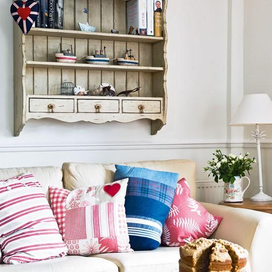 Country living room seating | Living room design | Cream sofa | Image | Housetohome