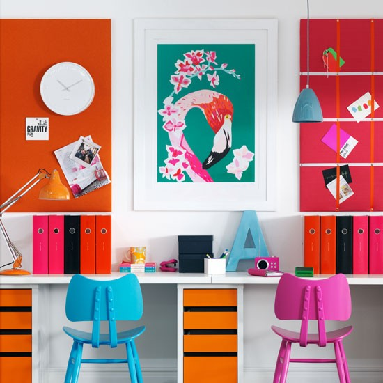 Vibrant home office | Colourful home office idea | Home office furniture | Image | Housetohome