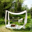White garden canopy