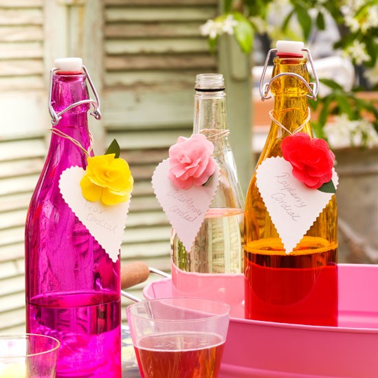 Colourful glassware on a garden table | Outdoor living | Garden | Design | PHOTO GALLERY | Housetohome.co.uk