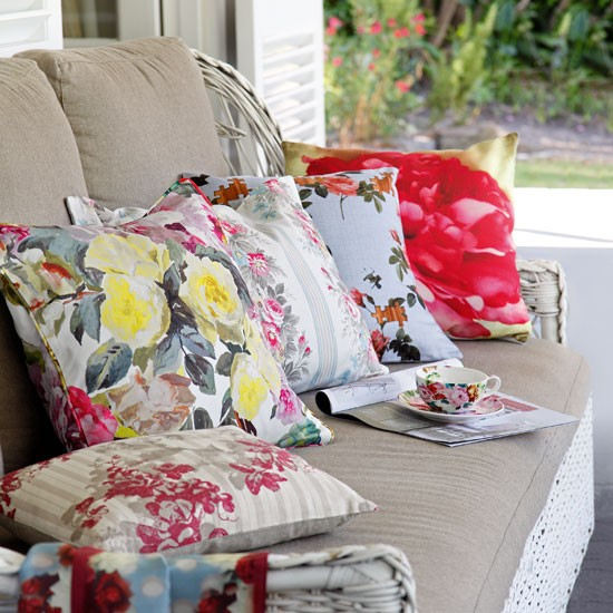 Floral Conservatory Cushions Furnishings