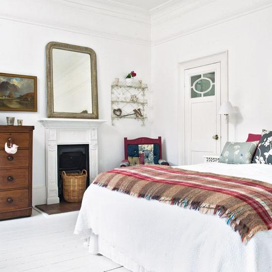 Antique accessorised bedroom | Vintage bedroom ideas | bedroom decorating | Image | Housetohome